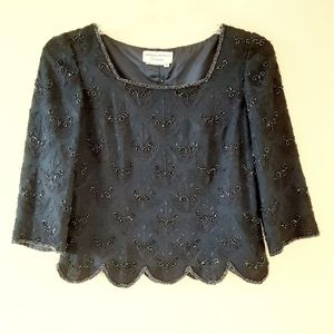 Adrianna Papell Beaded Special Occasion Blouse
